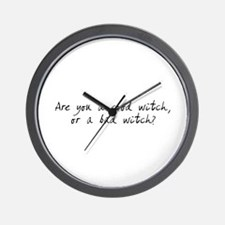 Cute You good witch bad witch Wall Clock