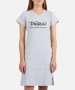 Theocracy band black logo Women's Nightshirt