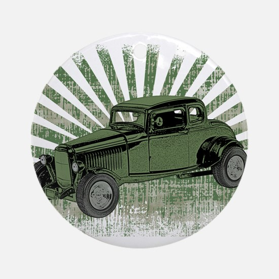Ford Coupe Round Ornament