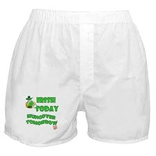 Irish Today Hungover Tomorrow-2 Boxer Shorts