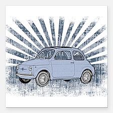 """Fiat Topolino Square Car Magnet 3"""" x 3"""""""