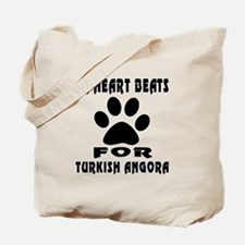 My Heart Beats For Turkish Angora Cat Tote Bag