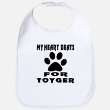 My Heart Beats For Toyger Cat Bib