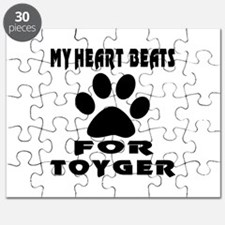 My Heart Beats For Toyger Cat Puzzle