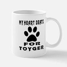 My Heart Beats For Toyger Cat Mug