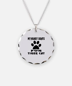 My Heart Beats For Tiger cat Necklace
