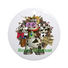 Billy Bull Ornament (Round)