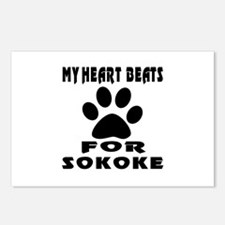 My Heart Beats For Sokoke Postcards (Package of 8)