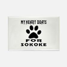 My Heart Beats For Sokoke Cat Rectangle Magnet