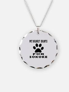 My Heart Beats For Sokoke Ca Necklace
