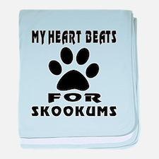 My Heart Beats For skookums Cat baby blanket
