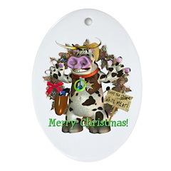 Billy Bull test Oval Ornament
