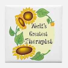 World's Greatest Therapist Tile Coaster