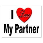 I Love My Partner Small Poster