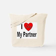 I Love My Partner Tote Bag