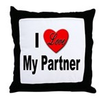 I Love My Partner Throw Pillow