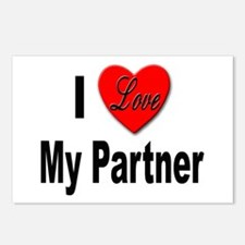 I Love My Partner Postcards (Package of 8)