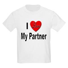 I Love My Partner Kids T-Shirt