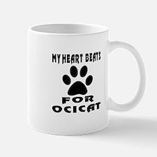 My Heart Beats For Ocicat Cat Mug