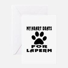 My Heart Beats For LaPerm Cat Greeting Card