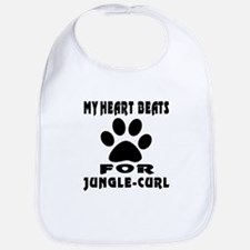 My Heart Beats For Jungle-curl Cat Bib