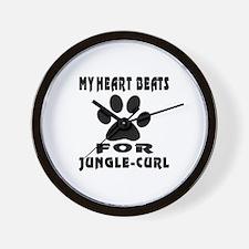 My Heart Beats For Jungle-curl Cat Wall Clock