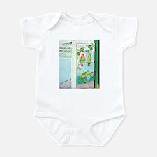 KEY WEST'S GREEN PARROT BAR D Infant Bodysuit