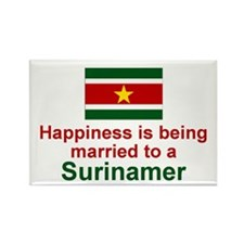 Surinamer-Married Rectangle Magnet