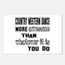 Country Western dance mo Postcards (Package of 8)