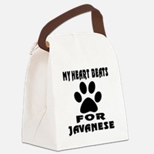 My Heart Beats For Javanese Cat Canvas Lunch Bag