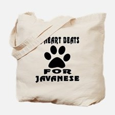 My Heart Beats For Javanese Cat Tote Bag