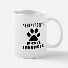My Heart Beats For Javanese Cat Mug
