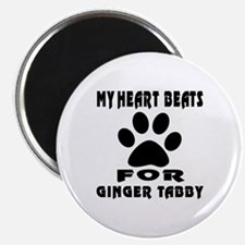"My Heart Beats For Ginger 2.25"" Magnet (100 pack)"