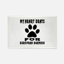My Heart Beats For European Burme Rectangle Magnet
