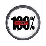 100 Percent In Debt Wall Clock