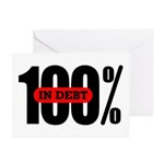 100 Percent In Debt Greeting Cards (Pk of 10)