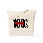 100 Percent In Debt Tote Bag