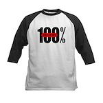 100 Percent In Debt Kids Baseball Jersey