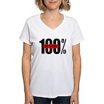 100 Percent In Debt Women's V-Neck T-Shirt