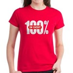 Women's 100 Percent In Debt Tee-Shirt Dark Colored