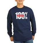 100 Percent In Debt Long Sleeve Dark T-Shirt