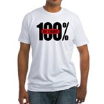 100 Percent In Debt Fitted T-Shirt