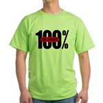 100 Percent In Debt Green T-Shirt