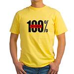 100 Percent In Debt Yellow T-Shirt