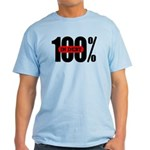 100 Percent In Debt Light Colored T-Shirt