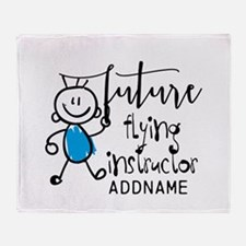 Future Flying Instructor Personalize Throw Blanket