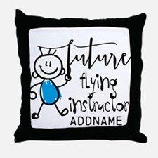 Future Flying Instructor Personalized Throw Pillow