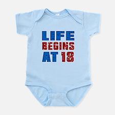 Life Begins At 18 Infant Bodysuit