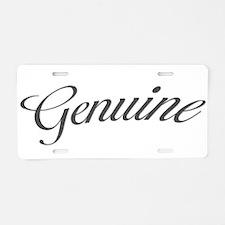Genuine Aluminum License Plate