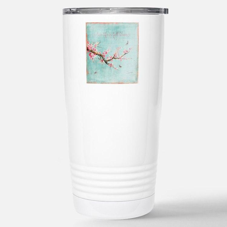 Live life in full bloom Travel Mug